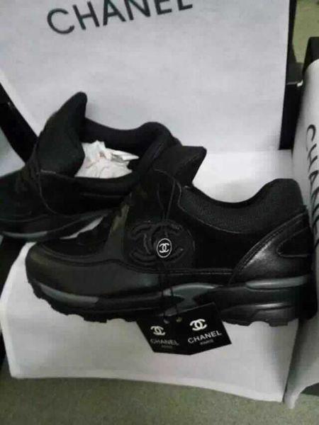 chanel sneakers zwart wit